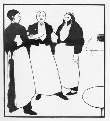 Garcons de Cafe, illustration form 'The Yellow Book', 1894