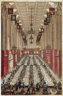Representation of the Interior of Guildhall on the occasion of the visit of the King and Queen