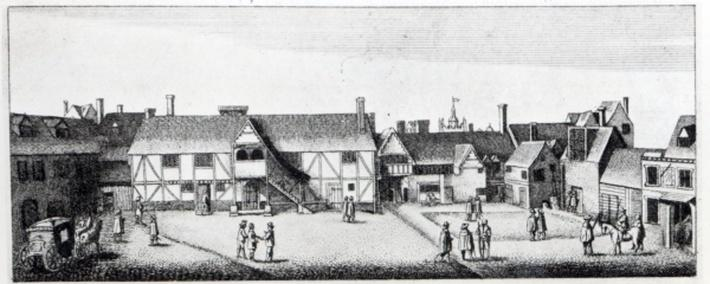 South View of Arundel House in London, etched by Wenceslaus Hollar in 1646 and published in 1792