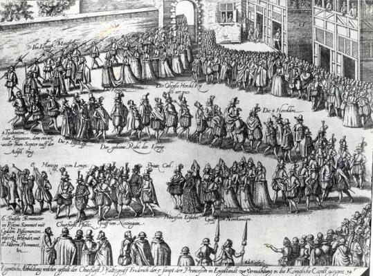 Procession for the wedding of Frederick V, Elector Palatine and Princess Elizabeth, c.1613