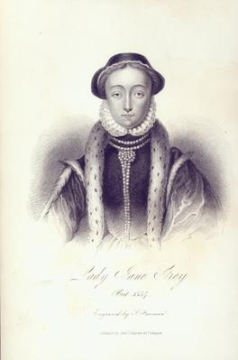 Lady Jane Grey, engraved by S. Freeman
