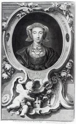 Anne of Cleves, engraved by Jacobus Houbraken, 1740