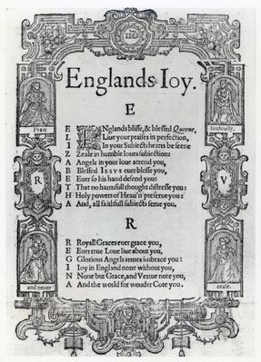 England's Joy by Richard Vennar, c.1602
