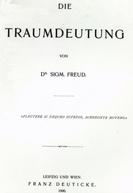 Titlepage to 'Die Traumdeutung' by Sigmund Freud, published in 1899