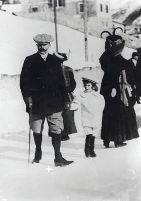 Archduke Franz Ferdinand of Austria with one of his children