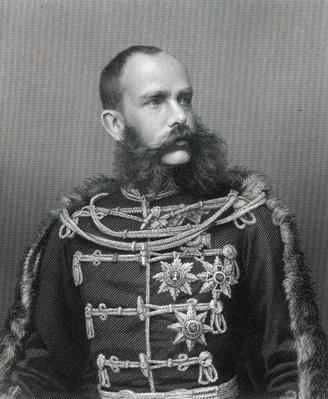 Emperor Franz Joseph I of Austria, engraved by George J. Stodard