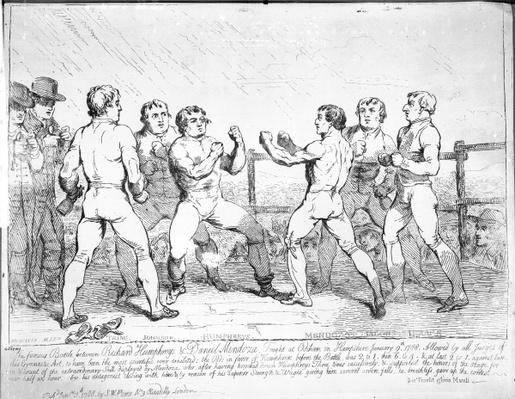 The Famous Battle Between Richard Humphreys and Daniel Mendoza, January 9th 1788