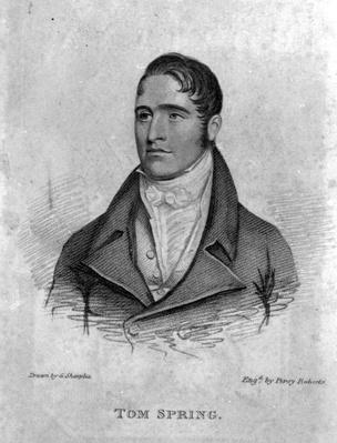 Tom Spring, engraved by Percy Roberts