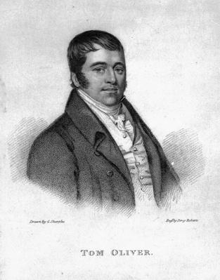Tom Oliver, engraved by Percy Roberts