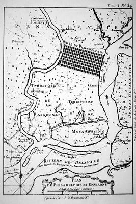 Plan of the city of Philadelphia, from a print of 1764