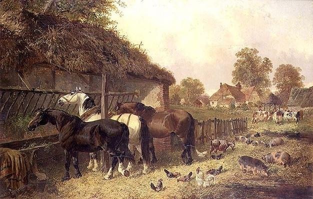 Three Horses at a Manger