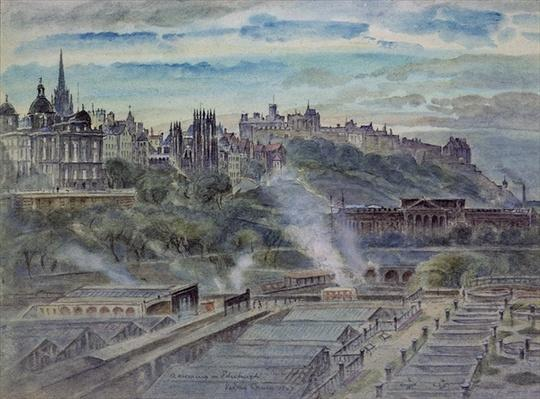 Edinburgh from near St. Anthony's Chapel on the North-west Shoulder of Arthur's Seat, 19th century