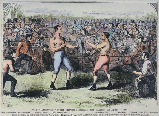 John Heenan v. Tom Sayers, 17th April, 1860
