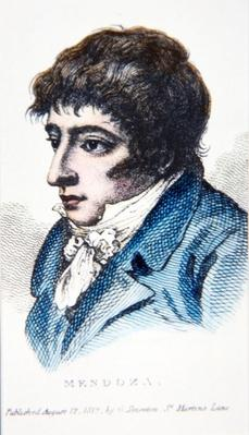 Daniel Mendoza, portrait published 12th August, 1812 by G. Smeeton, St. Martin's Lane, London
