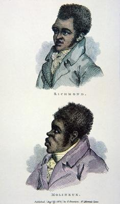 Bill Richmond and Tom Molineaux, print published in 1812