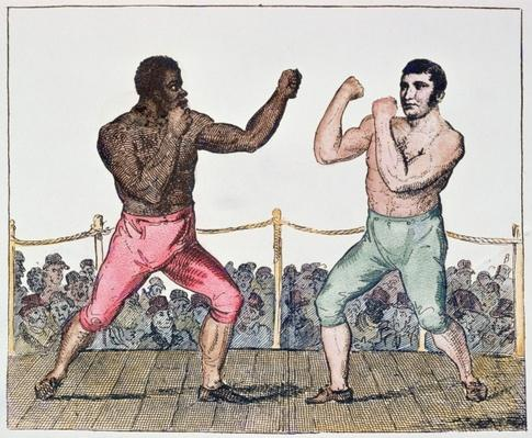 Tom Molineaux versus Tom Cribb, 28th September, 1811 at Thistleton, England