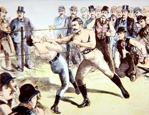 John L. Sullivan v. Charlie Mitchell on 10th March, 1888 at Chantilly, France