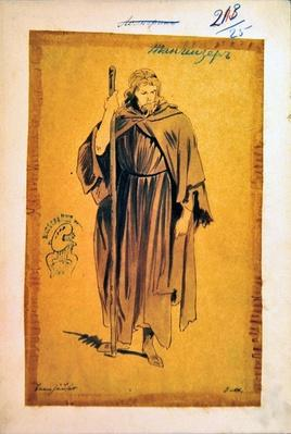 Costume Design for the role of Tannhauser, in the opera 'Tannhauser', by Richard Wagner