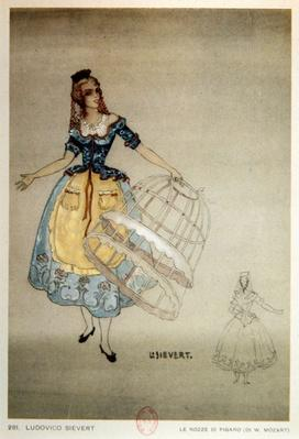 Costume Design for the opera 'The Marriage of Figaro', by Wolfgang Amadeus Mozart