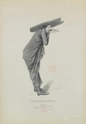 Bazile, from the opera 'Le Barbier de Seville', by Gioachino Rossini
