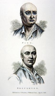 James Figg and Jack Broughton, from a print published in 1812