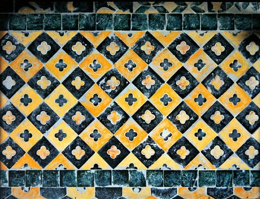 Tiles from the chapel of Saint Cucuphas