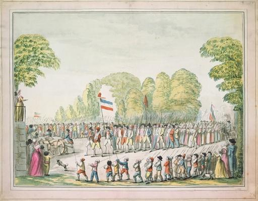 Revolutionary procession, c. 1789