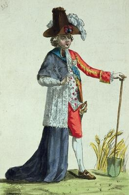 'Monsieur des Trois Etats', caricature on the Three Estates of France before the Revolution