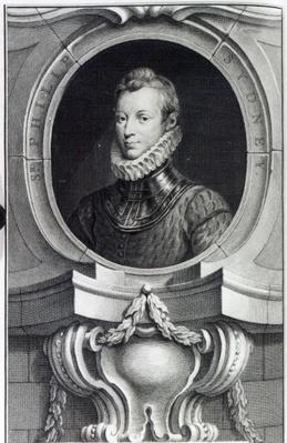 Sir Philip Sidney, engraved by Jacobus Houbraken, 1743