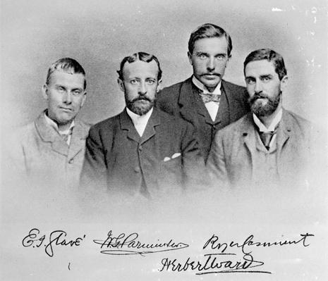 E.J. Glave, W.G. Parminter, Herbert Ward and Roger Casement
