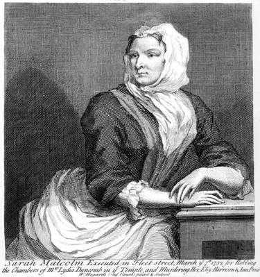 Sarah Malcolm in Newgate Prison, 1733