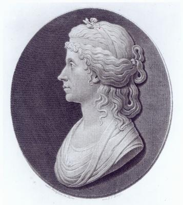 Angelica Kauffman, engraved by J.F Bause