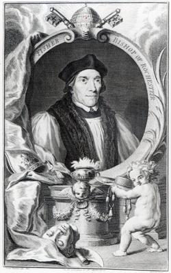 John Fisher, Bishop of Rochester, engraved by Jacobus Houbraken, c.1738-42