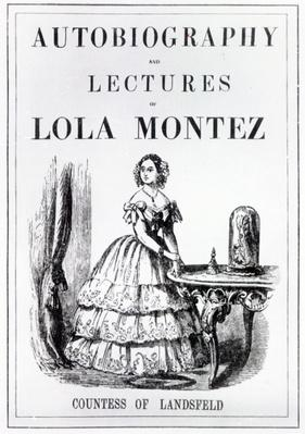 Frontispiece to the 'Autobiography and Lectures of Lola Montez, Countess of Landsfeld'