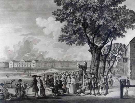 Enthusiasm Displayed, engraved by Robert Pranker, 1765