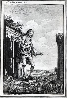 Gulliver amongst the Lilliputians, illustration from 'Gulliver's Travels' by Jonathan Swift