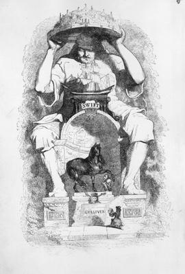 Frontispiece to 'Gulliver's Travels' by Jonathan Swift, 1838