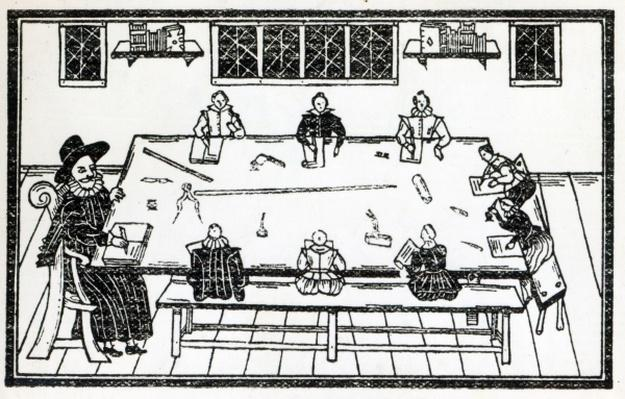 The Second Table of Good Nurture, an illustration from 'A Book of Roxburghe Ballads'