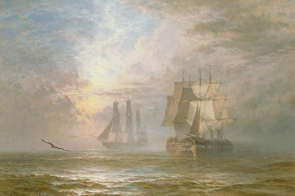 Men of War at Anchor, 1873