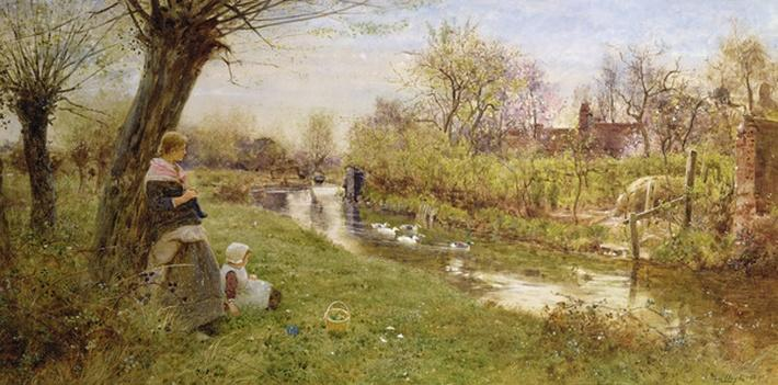 Watching the Ducks, 1890