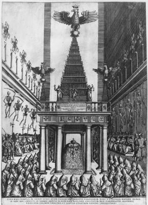 Funeral of Sigismund II Augustus, King of Poland and Grand Duke of Lithuania in Rome, 1572