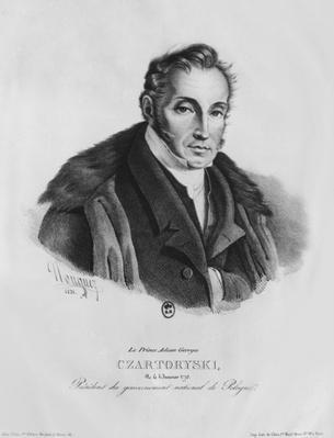Prince Adam George Czartoryski, 1831