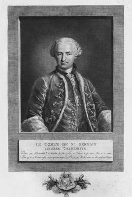Count of St. Germain, famous alchemist, 1783