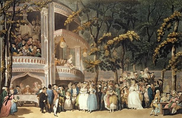 Vauxhall Gardens from Ackermann's 'Microcosm of London', 1809