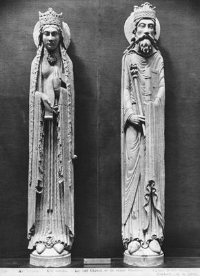 St. Clotilda and Clovis I, from the Church Notre-Dame of Corbeil