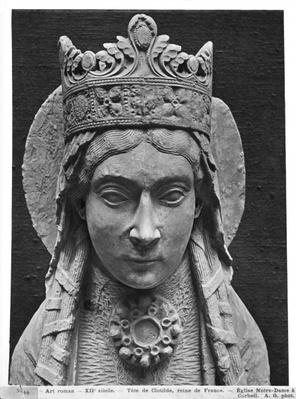Head of St. Clotilda, from the Church Notre-Dame of Corbeil