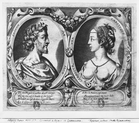 Pierre de Ronsard, aged 27 and Cassandre Salviati