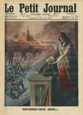Disarmament of France, Jean Jaures and Marianne, illustration from 'Le Petit Journal', 6th December 1903