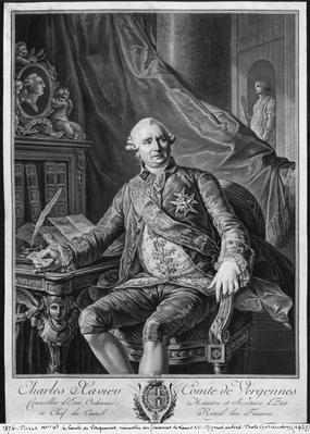 Charles Gravier, Count of Vergennes, engraved by Vicenzio Vangelisti