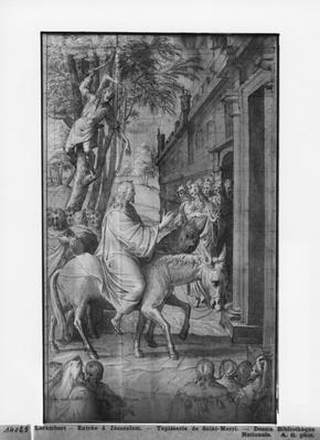 Life of Christ, Entry of Christ into Jerusalem, preparatory study of tapestry cartoon for the Church Saint-Merri in Paris, c.1585-90